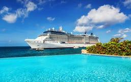 корабль порта круиза Стоковое Изображение