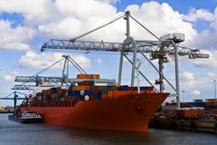 корабль порта перевозки Стоковые Фото