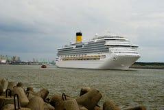 корабль порта klaipeda круиза Стоковое Фото