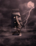 корабль привидения иллюстрация вектора