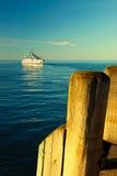 корабль пристани Стоковая Фотография