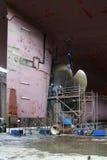 корабль ремонта пропеллера Стоковая Фотография RF