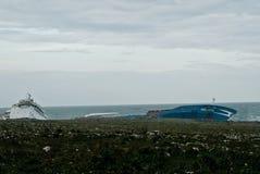 корабль сели на мель Сицилия, котор нефти Стоковое фото RF