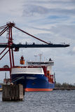 корабль состыкованный контейнером Стоковая Фотография RF