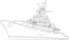 корабль сражения иллюстрация штока