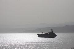 корабль тумана Стоковое Фото