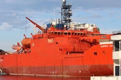 Корабль южного полярного сияния стоковое фото