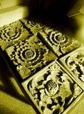 корабль balinese детализирует камень Стоковая Фотография