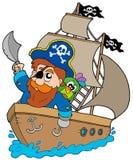 корабль sailing пирата иллюстрация вектора