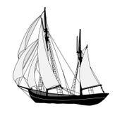 корабль sailing бесплатная иллюстрация