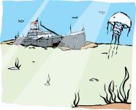 корабль sunken Стоковые Фотографии RF
