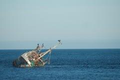 Кораблекрушение в Северном море Стоковые Изображения