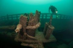Кораблекрушение в Lake Michigan Стоковое фото RF