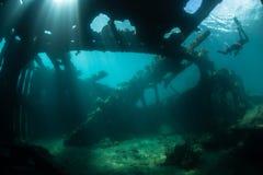 Кораблекрушение и солнечный свет Стоковое Фото