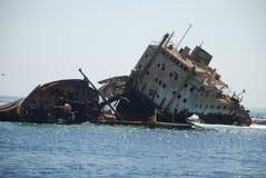 Кораблекрушение корабля в Красном Море Стоковая Фотография
