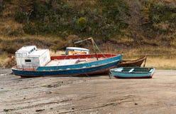 Кораблекрушение к югу от арен Punta Чили Стоковая Фотография RF