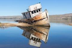 Кораблекрушение около Seashore соотечественника Reyes пункта Инвернесс, Seashore Reyes пункта национальный, Marin County, Калифор Стоковое фото RF