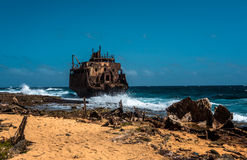 Кораблекрушение топливозаправщика Стоковое Изображение
