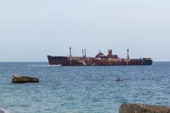 Кораблекрушение Costinesti Стоковые Изображения RF