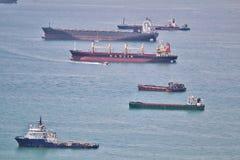 Корабли в гавани Стоковое Фото