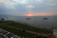 Корабли залива Izmir Стоковые Фотографии RF