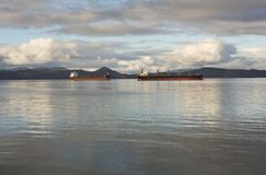 Корабли на анкере Стоковое фото RF