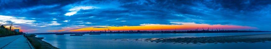 Корабли на заходе солнца Стоковое фото RF