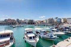 Корабли на койке в Греции Стоковые Фотографии RF