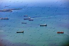 Корабли на море Marmara Стоковые Фотографии RF