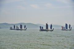 Корабли на озере Стоковое Фото