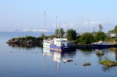Корабли на Gulf of Finland Стоковое фото RF
