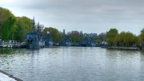 Корабли патруля в Baltiysk стоковые изображения rf