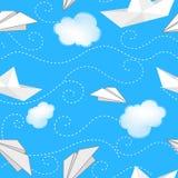 Корабли, самолеты и облака бесплатная иллюстрация