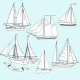 корабли установите эскизы Стоковое Фото