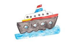 Корабль акварели красочный Стоковое Фото