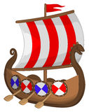 Корабль Викинга иллюстрация штока