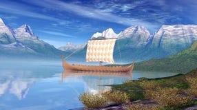 Корабль Викинга Стоковые Фотографии RF