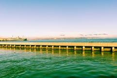 Корабль воды пристани Сан-Франциско Стоковое Изображение