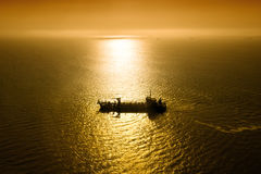 Корабль в Атлантическом океане Стоковое Изображение RF