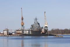 Корабль в стыковке Стоковые Изображения RF