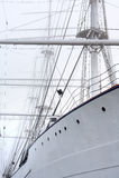 Корабль в тумане стоковое фото rf