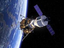 Корабль исследования экипажа в космосе Стоковые Изображения RF