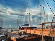 Корабль или шлюпка в Одессе Стоковое Изображение RF