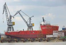 корабль конструкции вниз Стоковое Изображение