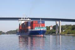 Корабль контейнера на канале Кил Стоковое Изображение RF