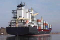 Корабль контейнера на канале Кил Стоковые Фото