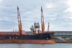 Корабль крана Стоковое Изображение RF