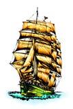 Корабль моря иллюстрация штока