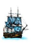 Корабль моря иллюстрация вектора