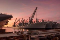 Корабль музея шершня USS Стоковое Изображение